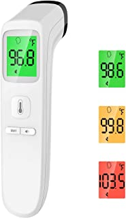 Touchless Thermometer – Forehead Thermometer for Adults,No Touch for Fever, Baby Kids Child with Batteries, Fever Alarm, 3...
