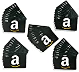 Amazon.com $25 Gift Cards, Pack of 50 (Classic Black Card Design)