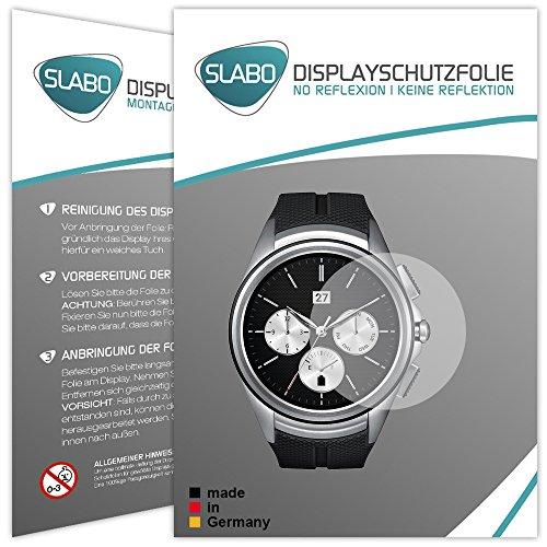 Slabo 2 x Bildschirmschutzfolie für LG Watch Urbane 2nd Edition Bildschirmschutz Schutzfolie Folie No Reflexion   Keine Reflektion MATT