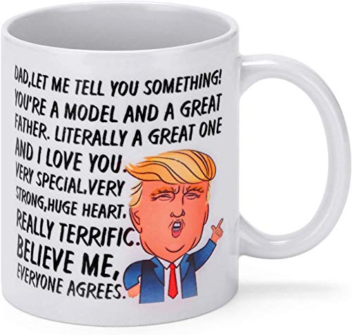 Psampa Funny Trump Coffee Mug Father's Day Funny Coffee Cup for Perfect for Dad…