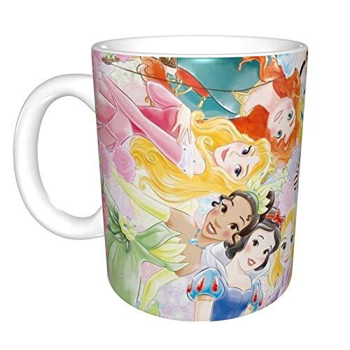 Taza de café divertida con diseño de princesa de Disney, ideal como regalo para veteranos militares.