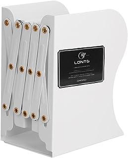 Indragbara bokstöd kraftig skrivbords bokhållare metall bokändar fil rack dokumentavdelare skrivbord bok förvaring organis...