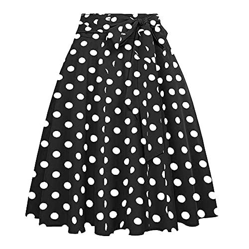 N\P Falda Falda plisada de verano para mujer con cintura alta hasta la rodilla