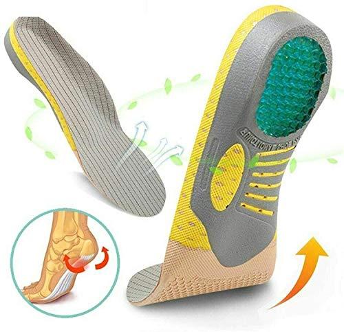 ZXCVB Zapatos de Absorción de Impactos y Sudor Inserte la Almohadilla para La Suela Plantillas Ortopédicas de PVC,Soporte de Arco Transpirable Fascitis Plantar Plantilla para PiesL(41-46)