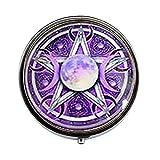 Hermoso pentagrama de triple luna caja de caramelos púrpura Wiccan Jewelry Art Nouveau hermosos regalos