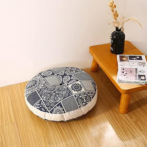 SUNYUAN 1Pc Addensare Sedile Cuscino Sedia Pad Rotondo Ufficio Cuscino Posteriore Balcone Tatami Materasso Meditazione Cuscino Decorazione Casa