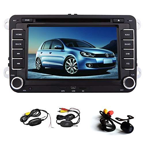 Navigazione GPS per Jetta Golf Tiguan polo Passat Skoda autoradio Autoradio 7 pollici 2 Schermo Din Radio Touch DVD Player capo dell'unità Bluetooth USB FM di deviazione standard AM RDS WINCE SWC