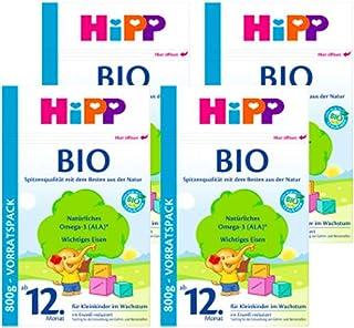 (跨境自营)(包税) Hipp喜宝 ?有机奶粉 4段?12个月以上 4盒装(4*?800克)