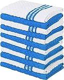 Utopia Towels - 12 asciugamani da cucina - 100% cotone asciugamani da cucina in cotone - Lavabile in lavatrice (38 x 64 cm - Blu)
