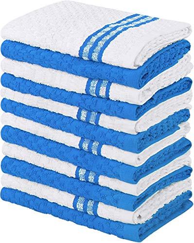 Utopia Towels Toallas de Cocina, 38 x 64 cm, 100% algodón Hilado en Anillo Toallas de Plato súper Suaves y absorbentes, Toallas de té y Toallas de Barra, (Paquete de 12) (Azul)