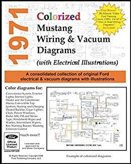 1971 Colorized Mustang Wiring And Vacuum Diagrams Ebook Motor Company Ford Amazon In Kindle Store