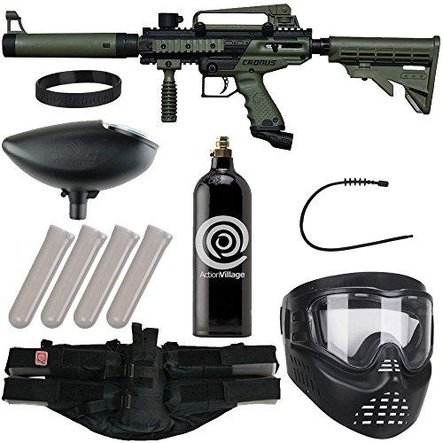 Action Village Tippmann Cronus Epic Paintball Gun Package Kit - Basic & Tactica (Olive Tactical)