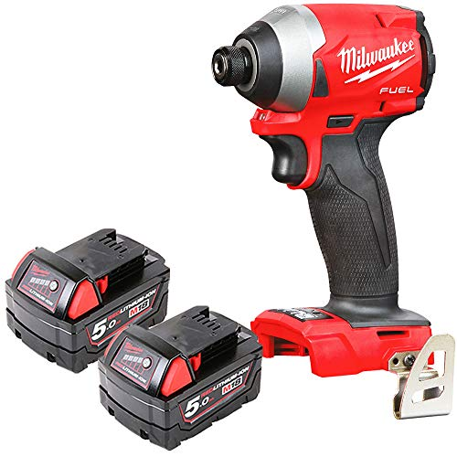 Milwaukee M18FID2 18v M18 Fuel Impact Driver with 2 x 5Ah Batteries