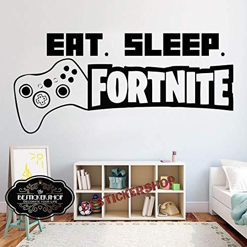 Calcomanía de pared de Ceciliapator Gamer para comer, dormir, juegos, control de pared, videojuegos, calcomanías de pared personalizadas para habitación de niños, vinilo, calcomanías de pared 1403RE