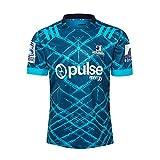 LCHENX-Maillot de Rugby Homme Highlanders 2020 T-Shirt Décontracté Respirant pour Sports D'été,Bleu,L