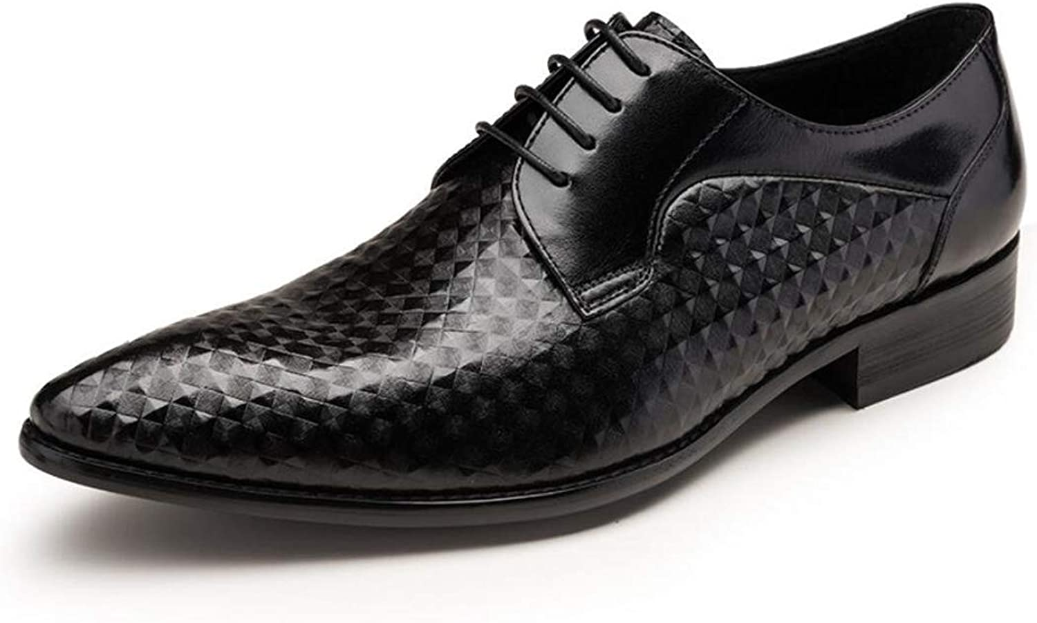 Mens Smart Formal Dress shoes Laced Brown Black Office Wedding Leather