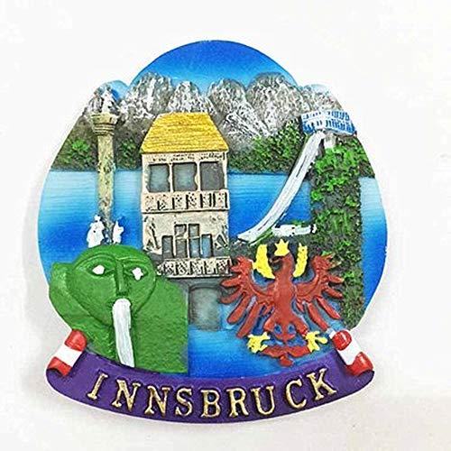 3D Innsbruck Österreich Kühlschrankmagnet Touristensouvenir Geschenkkollektion Heim- & Küchendekoration Magnetaufkleber Innsbruck Österreich Kühlschrankmagnet Kollektion