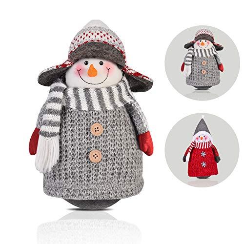 RANSENERS Handgemachte Schneemann Dolls, Stehaufmännchen Schneemannpuppen, süße Weihnachts Deko für Home Schaufenster Kinder Geburtstag Weihnachten Ostern