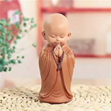 Figurine Animal Statue Ornaments Sculptures Little Monk Sculpture Chinese Style Resin Hand-Carved Buddha Statue Home Decor...