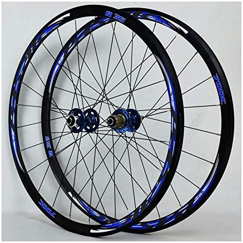 Accesorio de Bicicleta de Ejes de liberación rápid Bicicleta Wheelset 700C MTB Bike Bike Frontal y Rueda Trasera 29'Disc/Rim Freno 7-11 Cassette Flywheel Seled Roding Hubs 6 PAWLS QR 1700G Biciclet