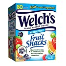Welch's Fruit Snacks, Mixed Fruit, Gluten Free, Bulk Pack, 0.9 oz Individual Single Serve Bags (Pack of 80)
