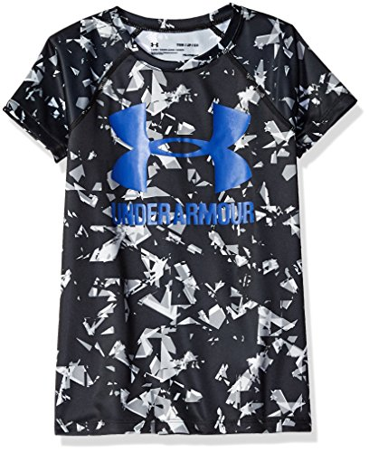 Under Armour Girls' Big Logo T-Shirt Novelty Short Sleeve T-Shirt, Black (002), Youth Medium