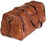 Weekender Berliner Bags Bergen XL Reisetasche aus Leder Qualität Vintage Design Damen Herren Braun Groß 60 cm 45 Liter