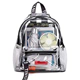 Heavy Duty Transparent Clear backpack ,TINYAT See Through Clear Bag for School, Concerts, Sports, Travel and Daily Use