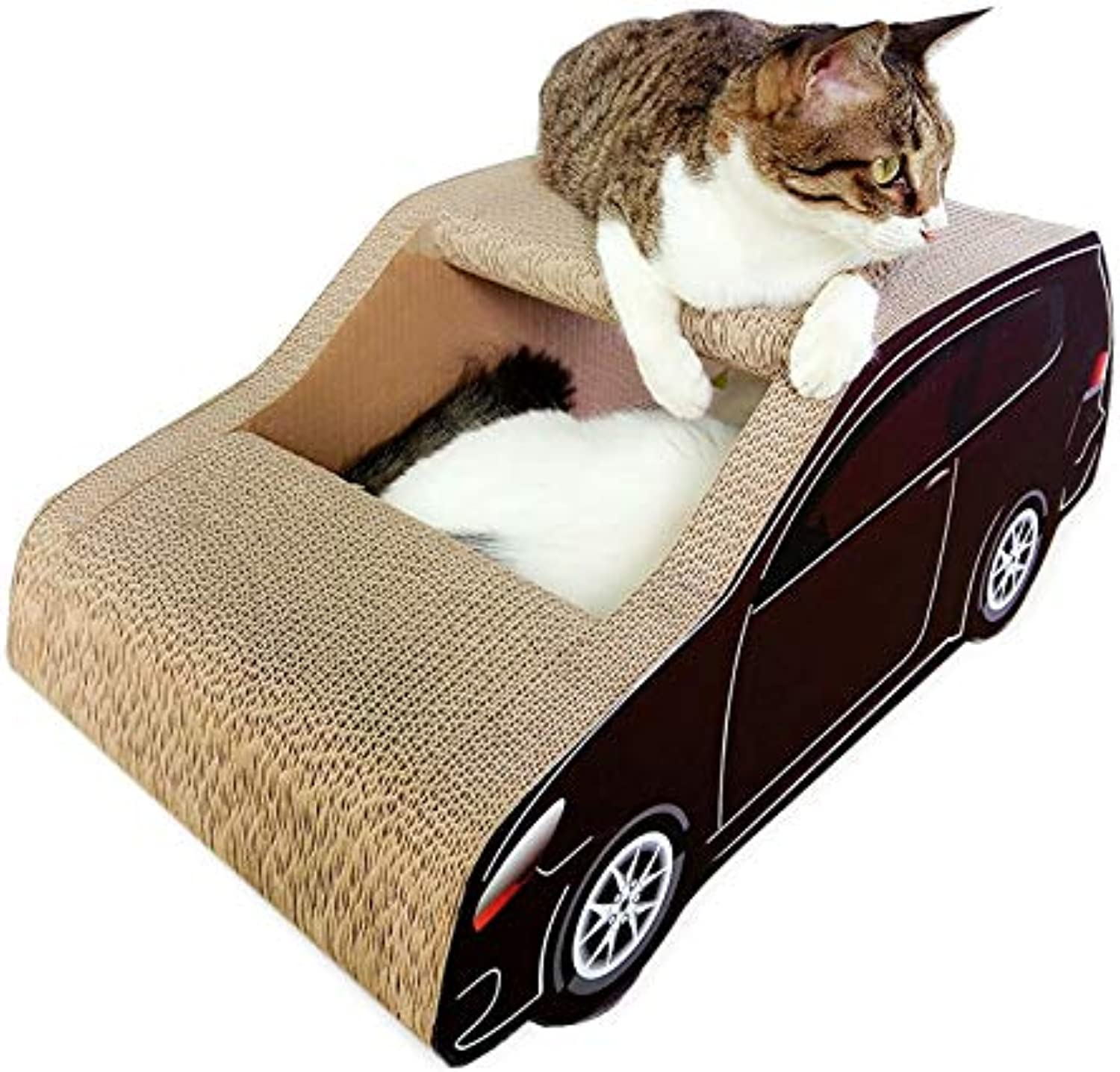 Cat Bed or Sofa hyx SUV Car Shaped Cat Litter Corrugated Paper Cat Scratch Board Grinding Claw Toy