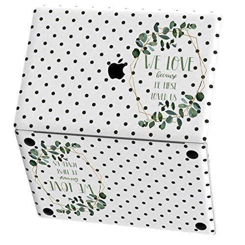 Mertak Vinyl Skin for Apple MacBook Air 13 inch Mac Pro 16 15 Retina 12 11 2020 2019 2018 2017 John 4:19 Eucalyptus Leaf Polka Dot Sticker Wrap Touch Bar Christian Design Decal Top Bible Scripture