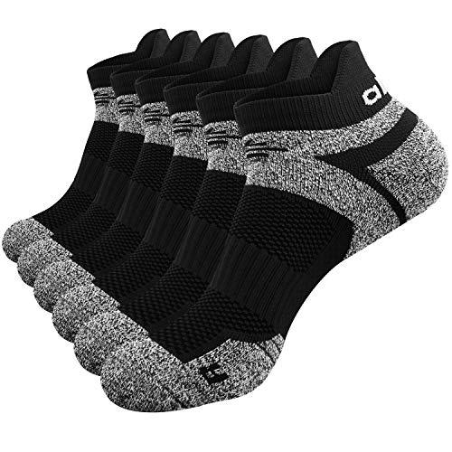 Abida 6 Pares de Calcetines Deportivos para Hombres y Mujeres Acolchados Tobilleros Entrenadores Calcetines atléticos Caminar