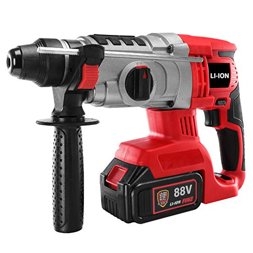 FYYTRL Cordless Drill Driver, Handheld Charging Brushless Combi Drills with 1200 Ma Battery, LED Lighting with 360 ° Rotationally Detachable Handle Hammer Drill Set, for Wooden DIY Assembly