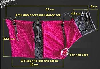 Alemon Neuf en Maille Cat Sac de toilettage et Cat Tunnel Pet Supplies