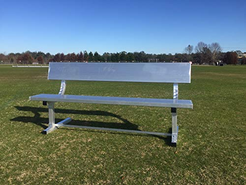 PEVO Aluminum Team Bench with Back 6'