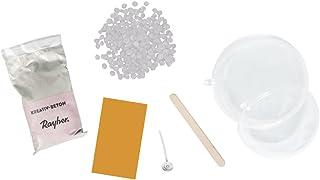 Rayher Bastelpackung Betonschale mit Kerze, Dose 1Set, Div. Materialien, Keine farbangabe, 13.3 x 13.3 x 11 cm