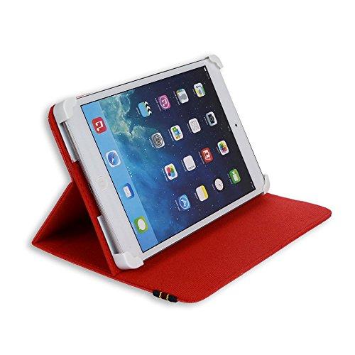 custodia universale tablet 8 pollici DANYSTAR® Custodia Cover Universale e Regolabile Fino a 8 Pollici (Rosso)