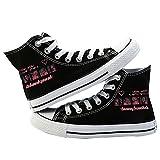 LXYA Zapatillas de Lona de impresión/Zapatillas de Deporte de Estrellas de Estilo Hip-Hop/Zapatos de Lona Casual Transpirables livianos, Blackpink KPOP Fashion Lace Up Couple School Gym Zapatos de