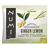 Numi Organic Tea Ginger Lemon, 100 Count Box of Tea Bags, Herbal Blend with Decaf Green Tea...
