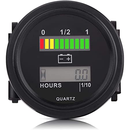 Batterieanzeige Betriebsstundenzähler 12 V 24 V 36 V 48 V 72 V Led Digital Batterieanzeige Mit Betriebsstundenzähler Für Golfwagen Auto