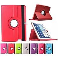 "Funda giratoria para Tablet Bq Edison 3 Quad Core 10.1"" Color: Rojo"