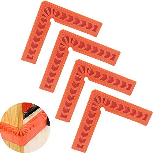 """CTRICALVER 4"""" Escuadras de Posicionamiento, Abrazadera de Ángulo Recto de Plástico 90 Grados, para Marcos de Cuadros, Cajas, Armarios o Cajones (4pcs)"""