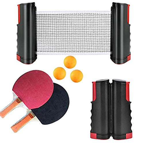 Lowest Prices! DXR Professional Table Tennis Racket Set with Retractable Net,Ball and Post Adjustmen...