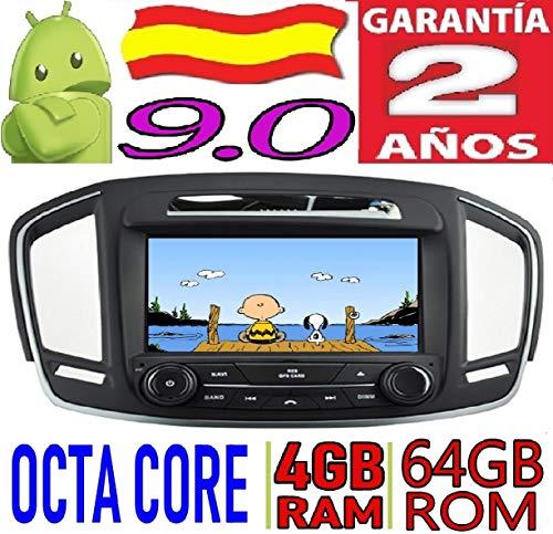 KasAndroid AUTORADIO 8' Android 9.0 Compatible con Opel Insignia 2014 Octa Core, 4GB RAM, 64 GB ROM/GPS Radio Coche DVD AUTORADIO, Car/Tpms WiFi 3g 4g RDS CD SD navi navegador Map Stereo