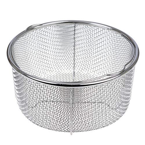 GRÄWE Dämpfeinsatz für Kochtöpfe Ø 21 cm, Dünsteinsatz-Korb aus Edelstahl, Dampfgareinsatz zum Dünsten, Schongaren, Frittieren & Dämpfen