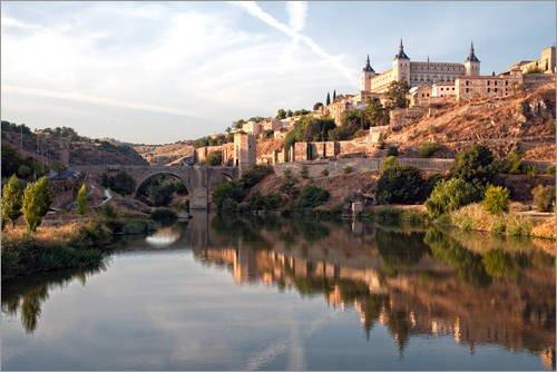 Posterlounge Lienzo 60 x 40 cm: Toledo in Spain de Editors Choice - Cuadro Terminado, Cuadro sobre Bastidor, lámina terminada sobre Lienzo auténtico, impresión en Lienzo