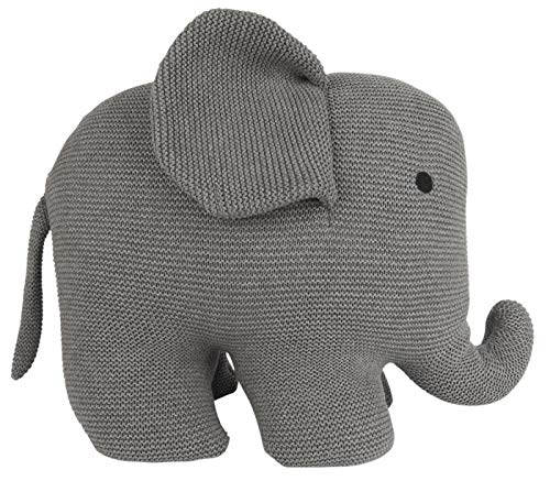 IB Laursen - Kuscheltier - Elefant - Baumwolle - grau - 22 x 40 x 50 cm