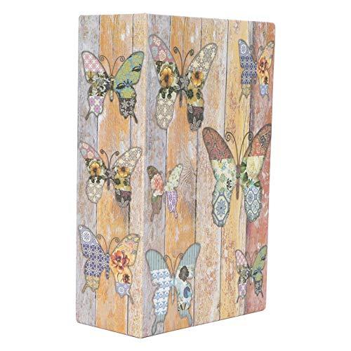 Omabeta Caja Fuerte de Acero Inoxidable de Papel con Textura Caja de Dinero Caja de Monedas Decoración Resistente para depositar valiosos artículos Individuales