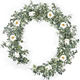 22 inches-Summer-Wreath for Front-Door-Decor- Handcrafted Boxwood Base- Ideal for Summer