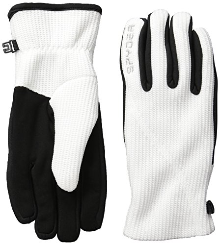 Spyder Damen Stryke Fleece Conduct Handschuhe, Damen, 506086, weiß, S