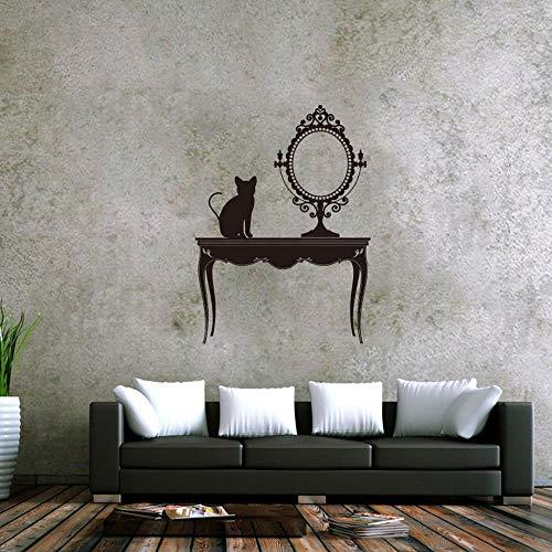 HAIMACX Wohnkultur Dekorieren Wandbild Kreative Ankleidezimmer Schminktisch Spiegel Schlafzimmer Schminktisch Dekoration Wandbild @ 50 * 53